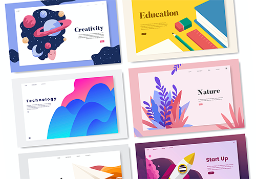 Template Creations - A selection of landing page designs